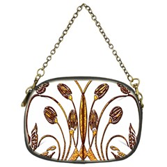 Scroll Gold Floral Design Chain Purses (one Side)  by Nexatart