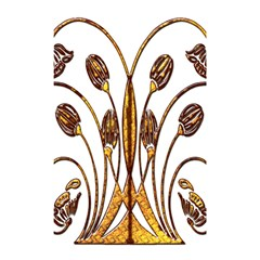 Scroll Gold Floral Design Shower Curtain 48  X 72  (small)  by Nexatart