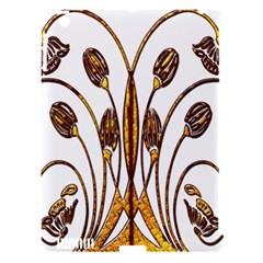 Scroll Gold Floral Design Apple Ipad 3/4 Hardshell Case (compatible With Smart Cover) by Nexatart