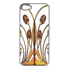 Scroll Gold Floral Design Apple Iphone 5 Case (silver) by Nexatart
