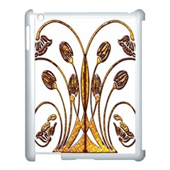 Scroll Gold Floral Design Apple Ipad 3/4 Case (white)