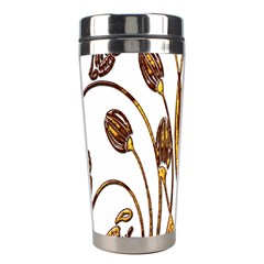 Scroll Gold Floral Design Stainless Steel Travel Tumblers by Nexatart