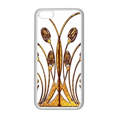 Scroll Gold Floral Design Apple Iphone 5c Seamless Case (white) by Nexatart