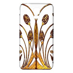 Scroll Gold Floral Design Samsung Galaxy S5 Back Case (white) by Nexatart