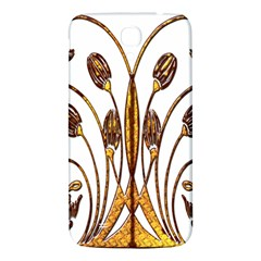 Scroll Gold Floral Design Samsung Galaxy Mega I9200 Hardshell Back Case by Nexatart