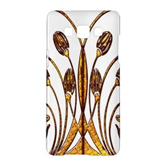 Scroll Gold Floral Design Samsung Galaxy A5 Hardshell Case  by Nexatart