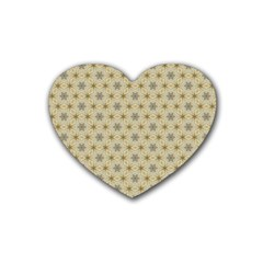 Star Basket Pattern Basket Pattern Rubber Coaster (heart)  by Nexatart