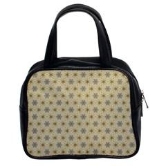 Star Basket Pattern Basket Pattern Classic Handbags (2 Sides) by Nexatart