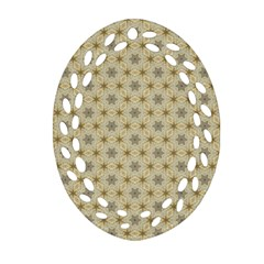 Star Basket Pattern Basket Pattern Oval Filigree Ornament (two Sides) by Nexatart