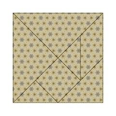 Star Basket Pattern Basket Pattern Acrylic Tangram Puzzle (6  X 6 ) by Nexatart