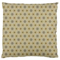 Star Basket Pattern Basket Pattern Large Cushion Case (two Sides) by Nexatart