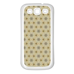 Star Basket Pattern Basket Pattern Samsung Galaxy S3 Back Case (white)