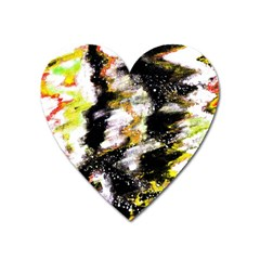 Canvas Acrylic Digital Design Heart Magnet by Nexatart