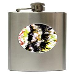 Canvas Acrylic Digital Design Hip Flask (6 Oz) by Nexatart