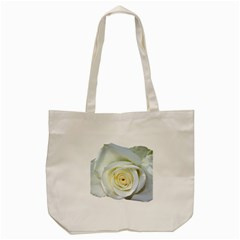 Flower White Rose Lying Tote Bag (cream) by Nexatart