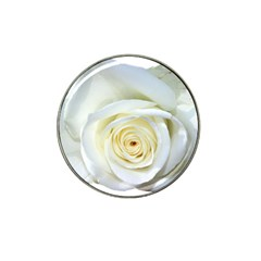 Flower White Rose Lying Hat Clip Ball Marker (4 Pack) by Nexatart