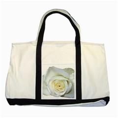 Flower White Rose Lying Two Tone Tote Bag by Nexatart