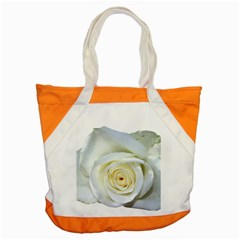 Flower White Rose Lying Accent Tote Bag by Nexatart