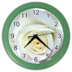 Flower White Rose Lying Color Wall Clocks