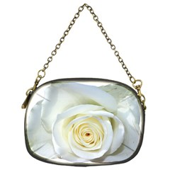 Flower White Rose Lying Chain Purses (one Side)  by Nexatart
