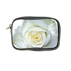 Flower White Rose Lying Coin Purse