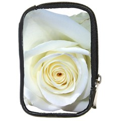 Flower White Rose Lying Compact Camera Cases by Nexatart