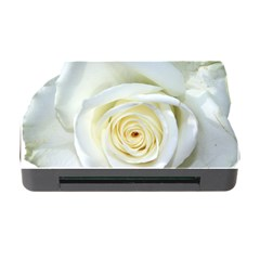 Flower White Rose Lying Memory Card Reader With Cf by Nexatart