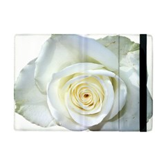 Flower White Rose Lying Apple Ipad Mini Flip Case by Nexatart