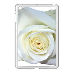 Flower White Rose Lying Apple Ipad Mini Case (white) by Nexatart