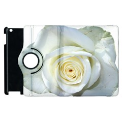 Flower White Rose Lying Apple Ipad 3/4 Flip 360 Case by Nexatart