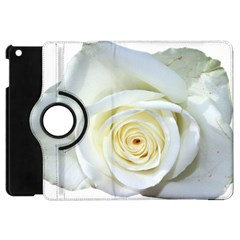 Flower White Rose Lying Apple Ipad Mini Flip 360 Case by Nexatart