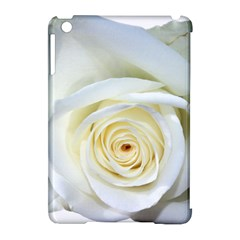 Flower White Rose Lying Apple Ipad Mini Hardshell Case (compatible With Smart Cover) by Nexatart