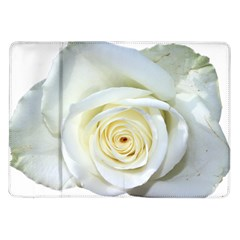 Flower White Rose Lying Samsung Galaxy Tab 10 1  P7500 Flip Case by Nexatart