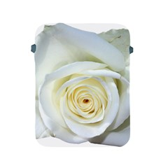 Flower White Rose Lying Apple Ipad 2/3/4 Protective Soft Cases by Nexatart