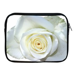 Flower White Rose Lying Apple Ipad 2/3/4 Zipper Cases by Nexatart
