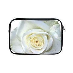 Flower White Rose Lying Apple Ipad Mini Zipper Cases by Nexatart