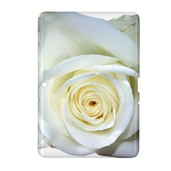 Flower White Rose Lying Samsung Galaxy Tab 2 (10 1 ) P5100 Hardshell Case