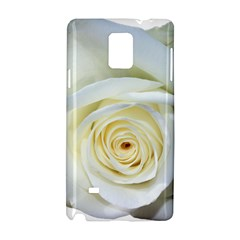 Flower White Rose Lying Samsung Galaxy Note 4 Hardshell Case by Nexatart