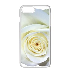Flower White Rose Lying Apple iPhone 7 Plus White Seamless Case by Nexatart