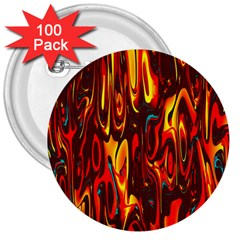 Effect Pattern Brush Red Orange 3  Buttons (100 Pack)