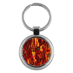 Effect Pattern Brush Red Orange Key Chains (round)  by Nexatart