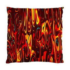 Effect Pattern Brush Red Orange Standard Cushion Case (two Sides)