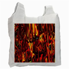Effect Pattern Brush Red Orange Recycle Bag (one Side)