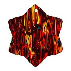 Effect Pattern Brush Red Orange Ornament (snowflake)