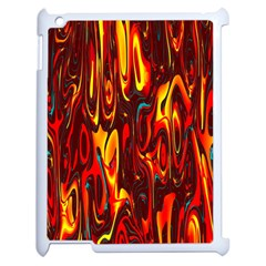 Effect Pattern Brush Red Orange Apple Ipad 2 Case (white) by Nexatart