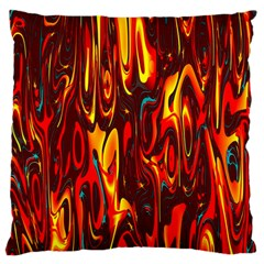 Effect Pattern Brush Red Orange Large Cushion Case (two Sides)