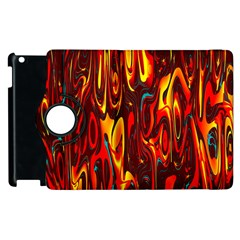 Effect Pattern Brush Red Orange Apple Ipad 3/4 Flip 360 Case by Nexatart