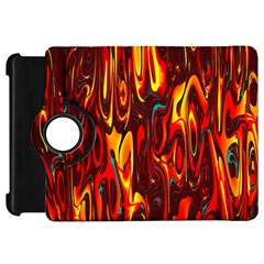 Effect Pattern Brush Red Orange Kindle Fire Hd 7  by Nexatart