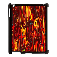 Effect Pattern Brush Red Orange Apple Ipad 3/4 Case (black)