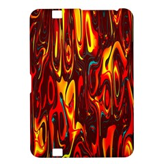 Effect Pattern Brush Red Orange Kindle Fire Hd 8 9  by Nexatart